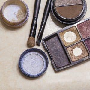 makeup on counter