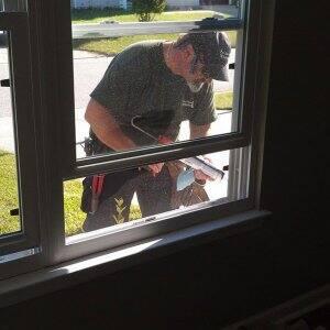 window caulk, contractor, new windows