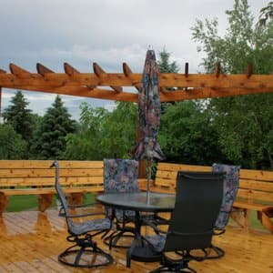 Keeping your wooden deck looking its best requires regular maintenance and upkeep. (Photo courtesy of Angie's List member James H. of Egan, Minn.)
