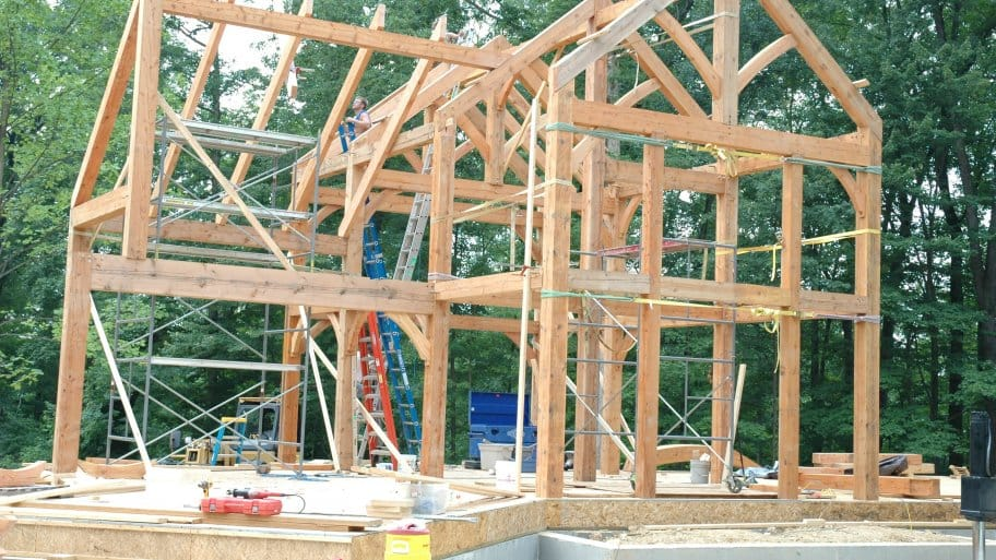 house framing under construction