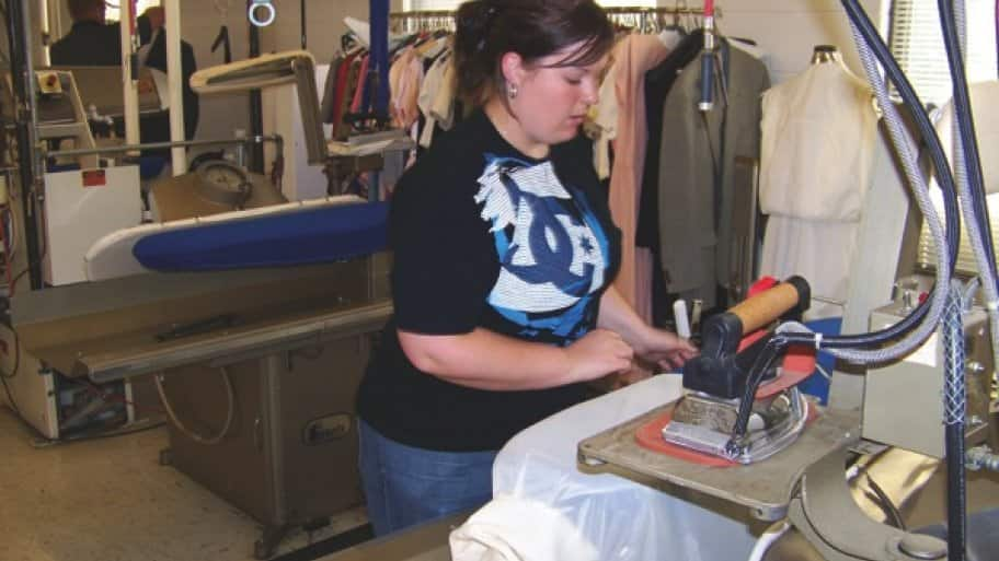 Atlas Cleaners is a member of the Dry Cleaning Institute and receives training, product info and best cleaning practices weekly. (Photo courtesy of the Drycleaning Institute)