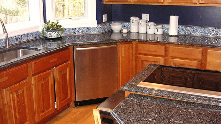 blue pearl granite on kitchen countertops