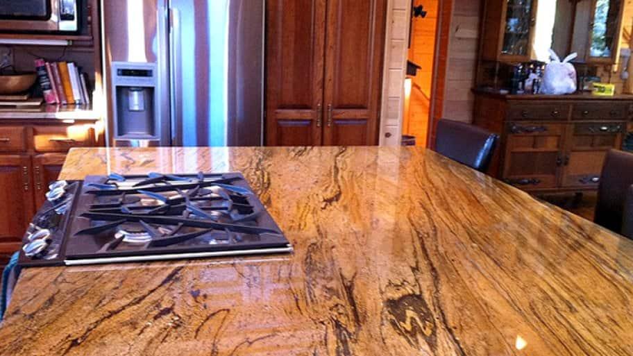 peregrine granite countertops in kitchen