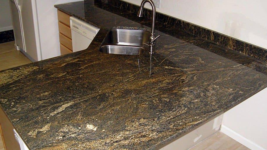 granite countertop slab in kitchen