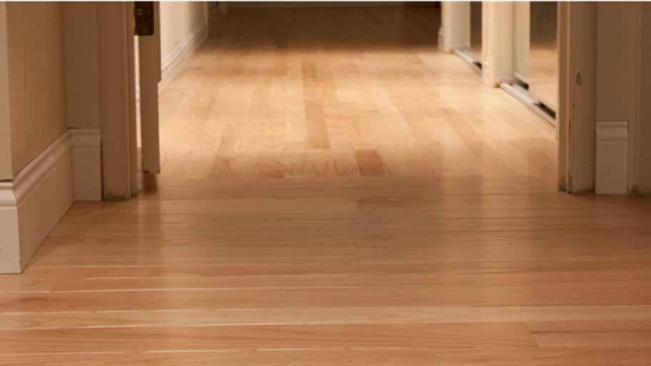 Hardwood floor in hallway.