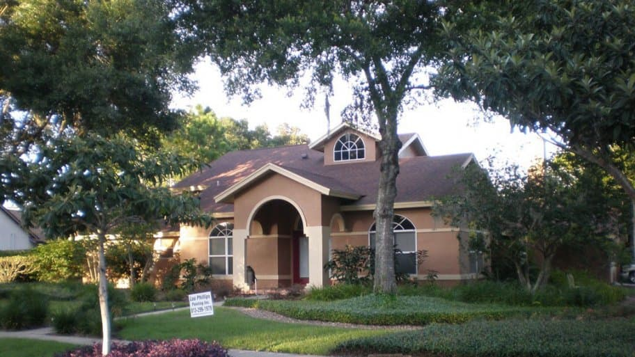 spanish style home, single story home