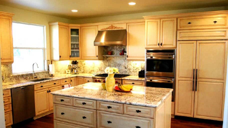 Cabinet refacing takes about half a day to complete. (Photo courtesy of Bruce Sindel)
