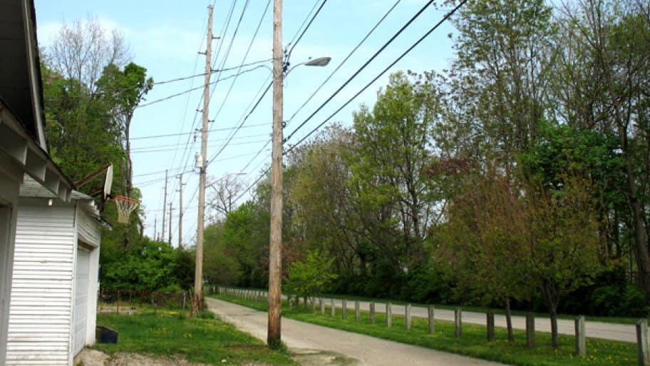 If a power line falls on your property, be sure to call the utility company.