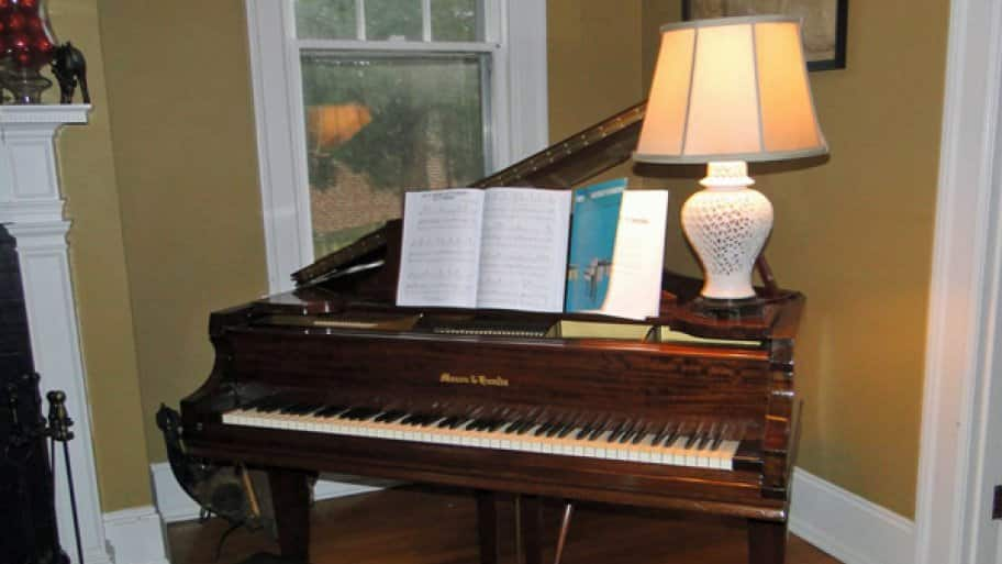 When experiencing an unknown vibration, the piano owner should examine the lamp, picture frame or any other nearby objects that may be causing the problem, says Kafig. (Photo courtesy of Angie's List member Joanna H. of Baltimore)