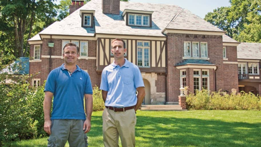brick house, exterior, restored historic home