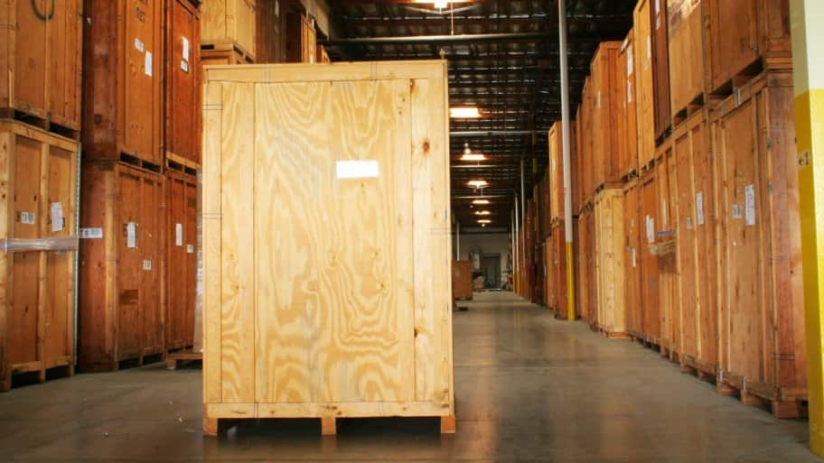 wooden storage vaults