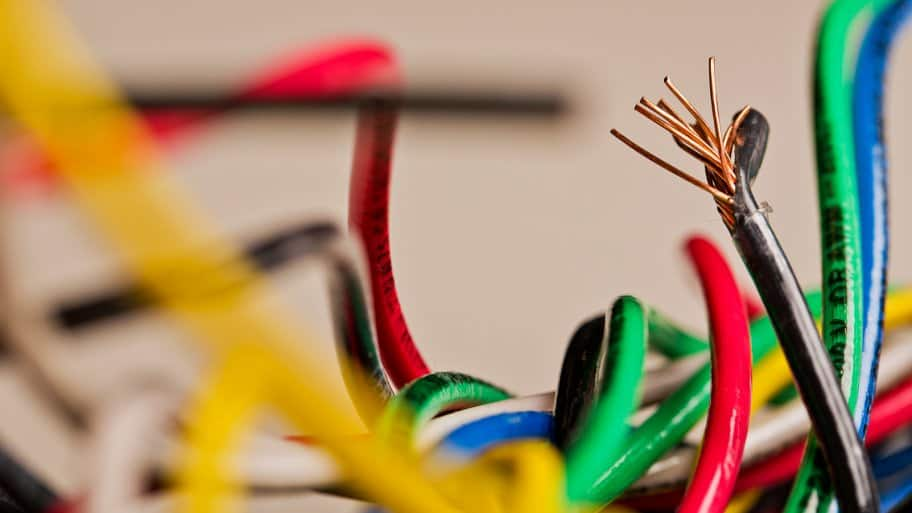 jumble of colored electrical wires (Photo by Brandon Smith)